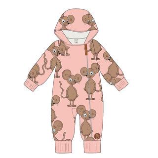 MILAN Jumpsuit trikoohaalari, Mouse Pink